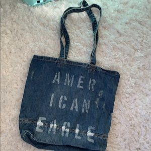 American Eagle Denim Tote Bag